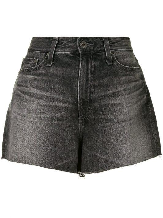 AG Jeans Hoch sitzende Shorts - Schwarz