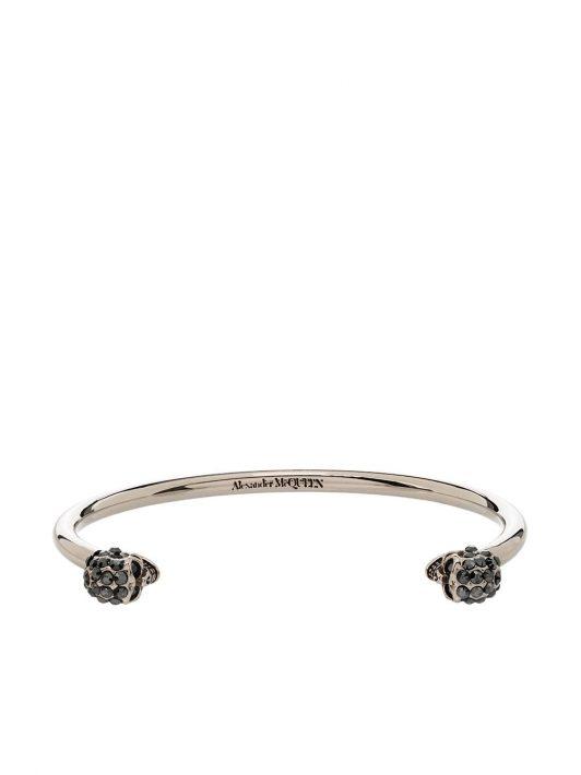 Alexander McQueen Armspange mit Kristallen - Silber