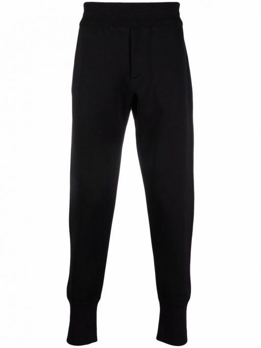 Alexander McQueen Tapered-Jogginghose mit Logo-Patch - Schwarz