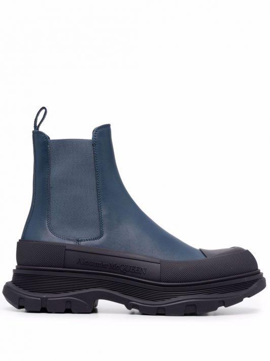 Alexander McQueen Tread Slick ankle boots - Blau