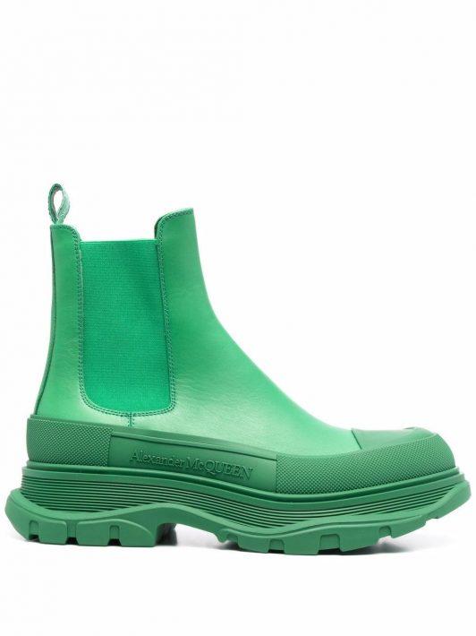 Alexander McQueen Tread Slick ankle boots - Grün