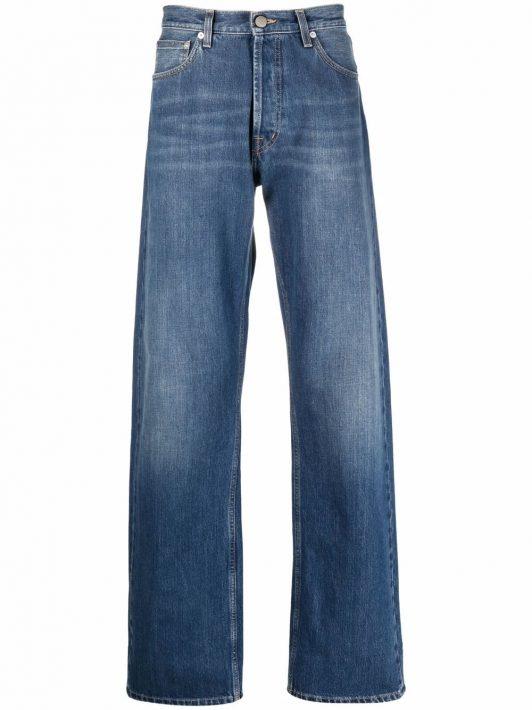 Alexander McQueen Wide-Leg-Jeans aus japanischem Denim - Blau