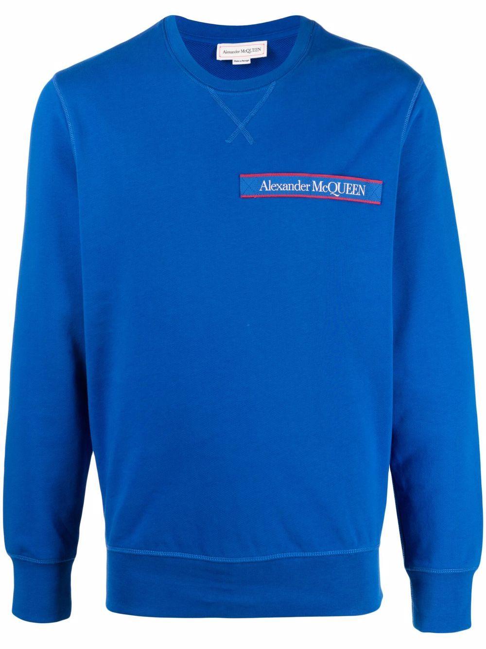 Alexander McQueen logo-patch sweatshirt - Blau