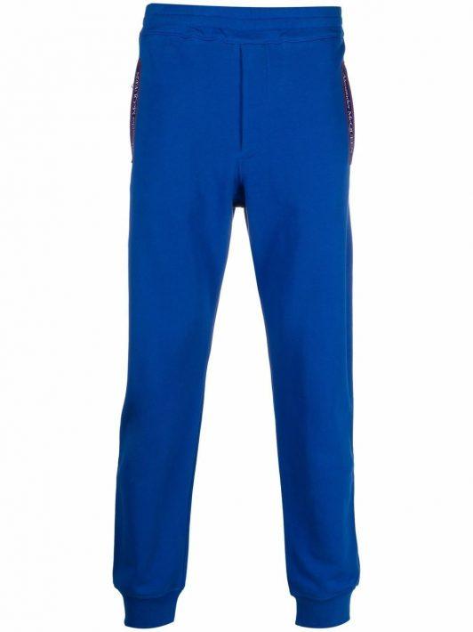 Alexander McQueen logo-tape detail track pants - Blau