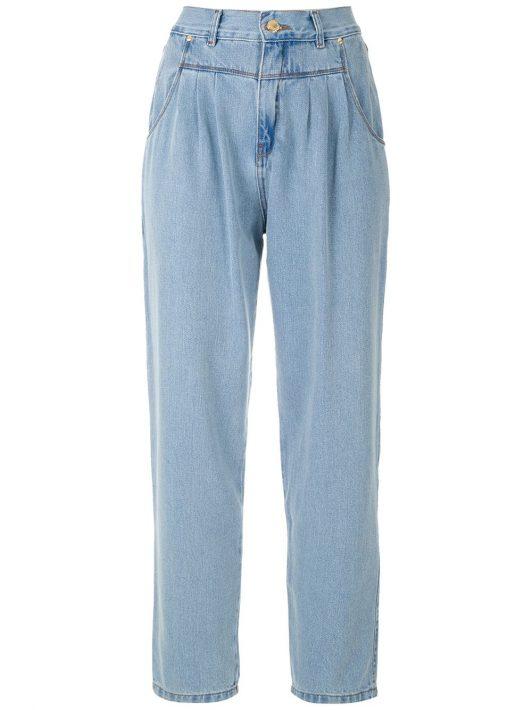 Amapô 'Renata' Jeans mit Bundfalten - Blau