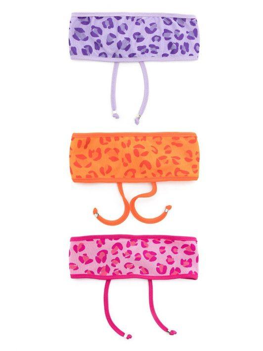 Amir Slama Set aus drei Stirnbändern mit Leo-Print - Mehrfarbig