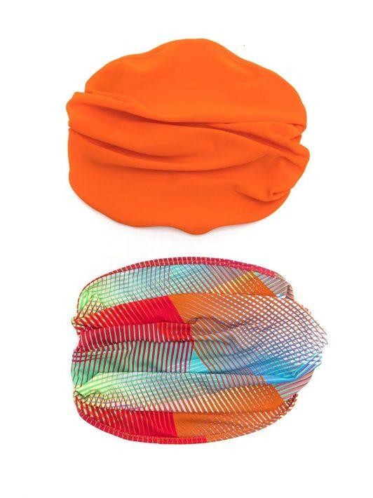 Amir Slama Set aus zwei Kopftüchern - Orange