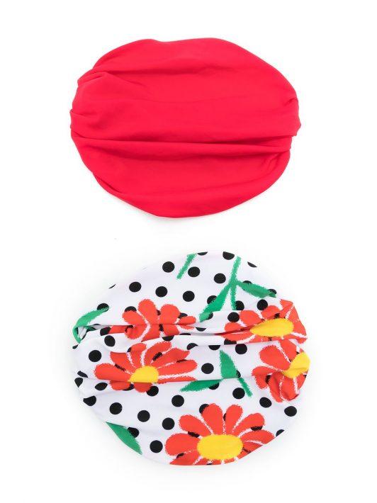 Amir Slama Set aus zwei Kopftüchern - Rot