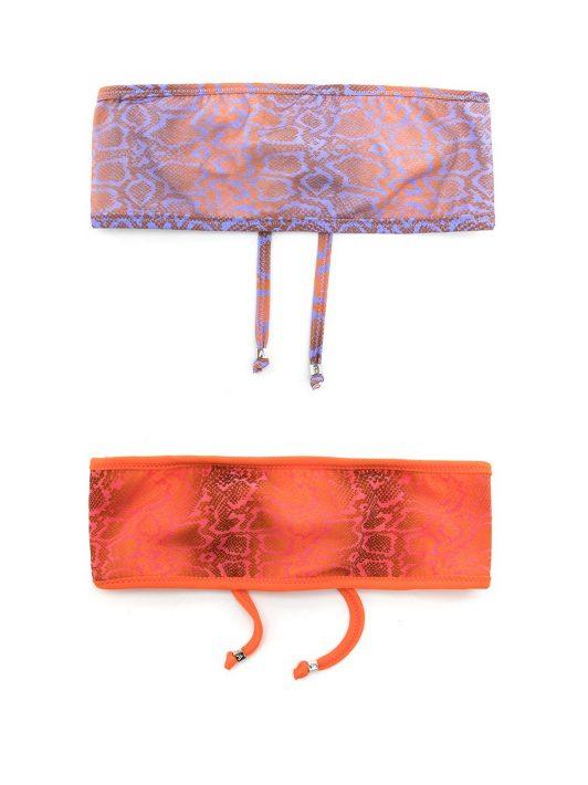 Amir Slama Set aus zwei Stirnbändern mit Schlangen-Print - Mehrfarbig