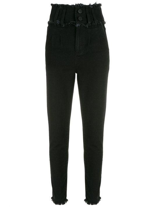 Andrea Bogosian Variety Skinny-Jeans mit hohem Bund - BLACK JEANS 05440