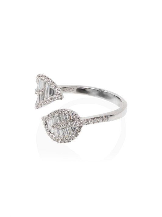 Anita Ko 18kt Weißgoldring mit Diamanten - WHITE GOLD