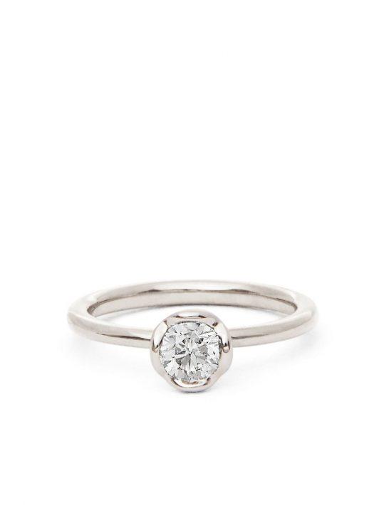 Annoushka 18kt Weißgoldring mit Diamant - Silber
