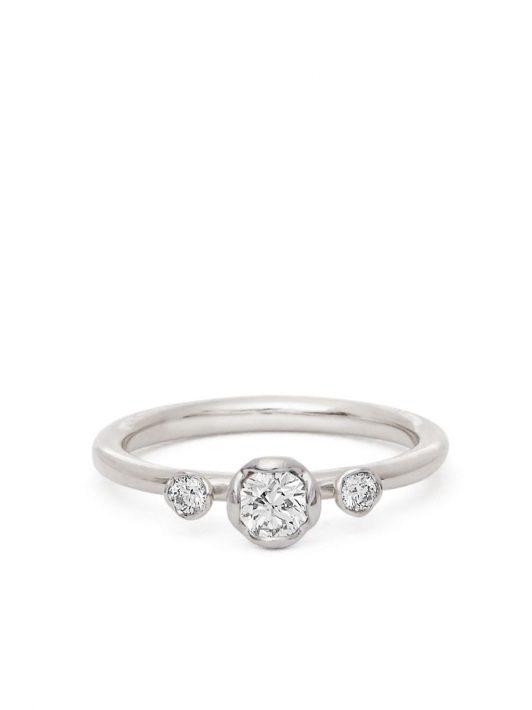 Annoushka 18kt Weißgoldring mit Diamanten - Silber