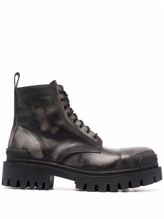 Balenciaga Strike leather ankle boots - Schwarz