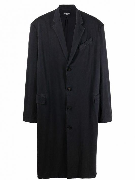 Balenciaga worn-out tailored coat - Schwarz
