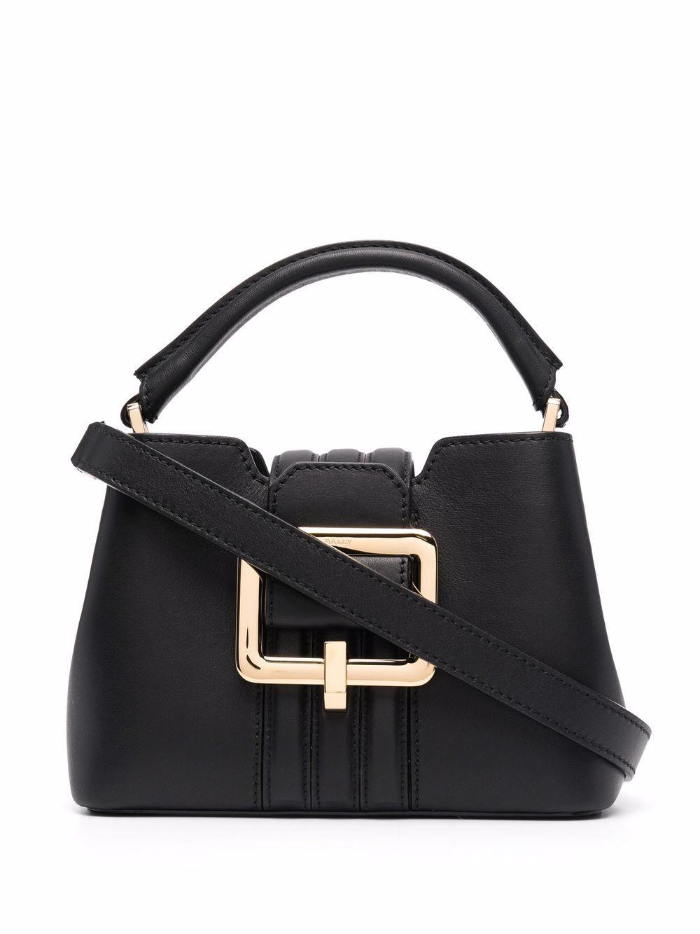 Bally Handtasche mit Schnalle - Schwarz