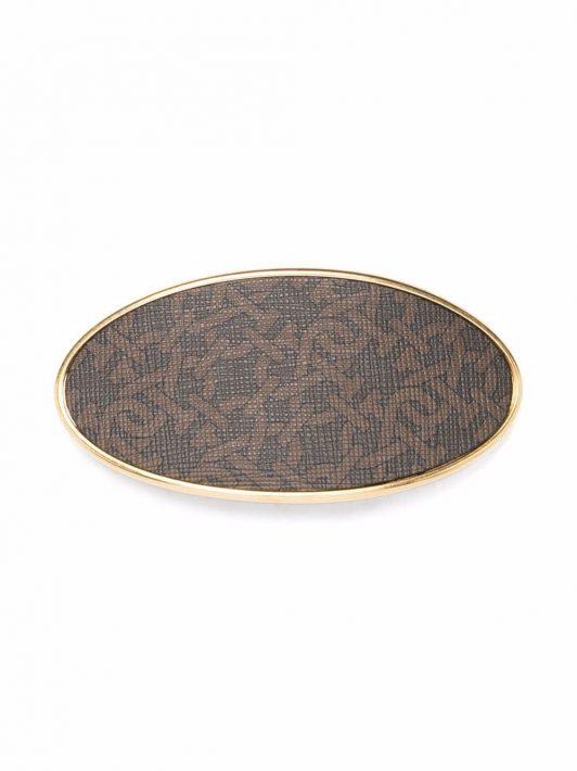 Bally monogram hair clip - Braun