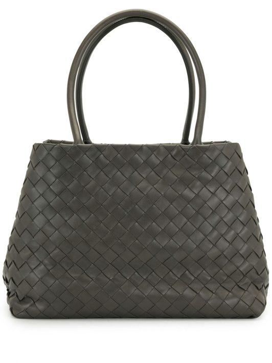 Bottega Veneta Pre-Owned Shopper mit Intrecciato-Muster - Grau
