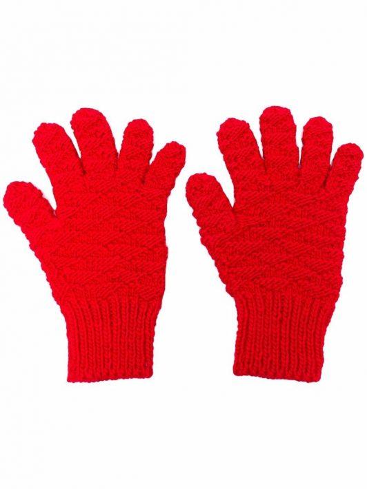 Bottega Veneta knitted wool gloves - Rot