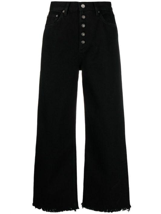 Boyish Jeans Weite Jeans mit hohem Bund - Schwarz