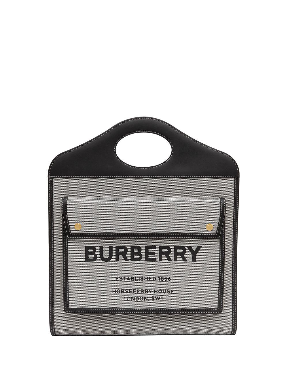 Burberry Mittelgroße Pocket Handtasche - Schwarz