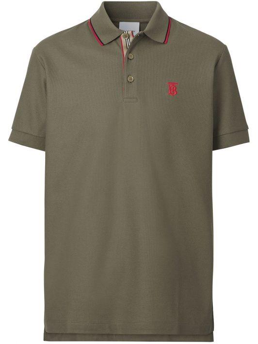 Burberry Poloshirt mit Monogramm - Grün
