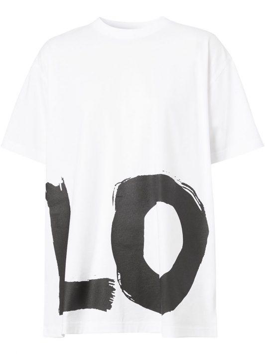 """Burberry T-Shirt mit """"Love""""-Print - Weiß"""