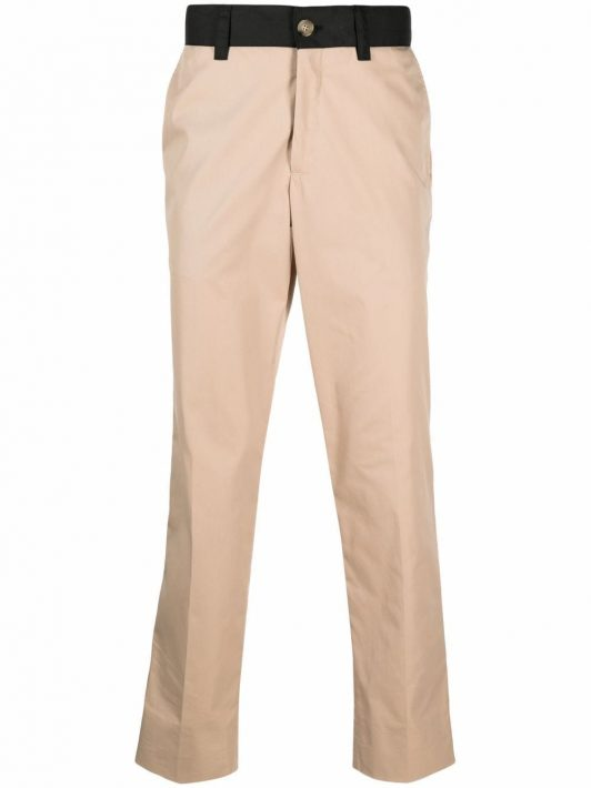 Burberry side stripe chino trousers - Nude