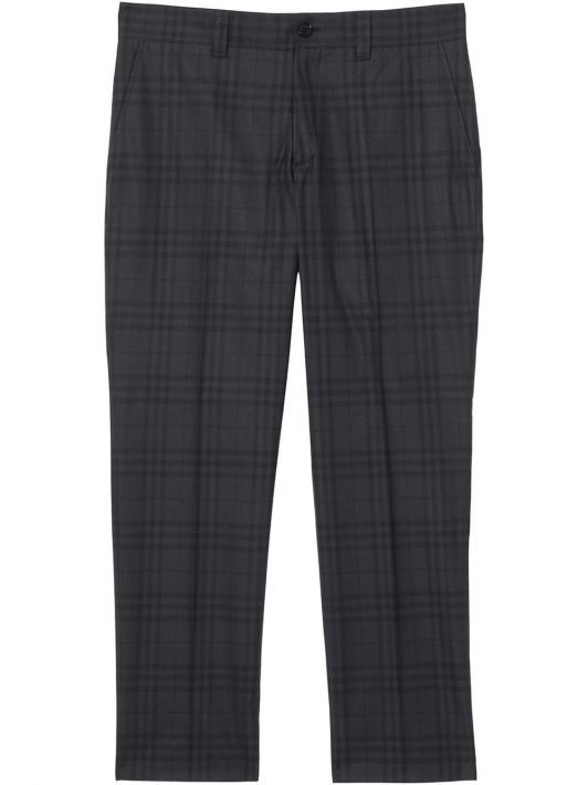 Burberry tailored check-print trousers - Schwarz
