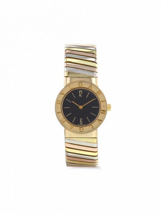 Bvlgari Pre-Owned 1990s pre-owned Tubogas 20mm - Schwarz