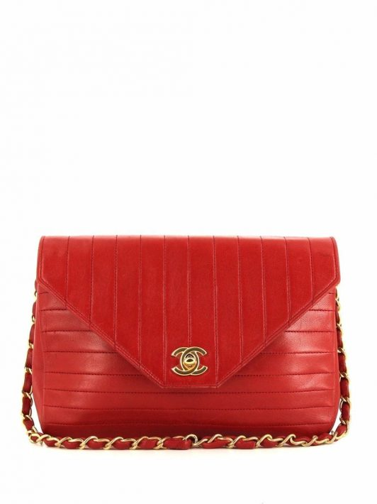 Chanel Pre-Owned 1988 Schultertasche mit CC - Rot