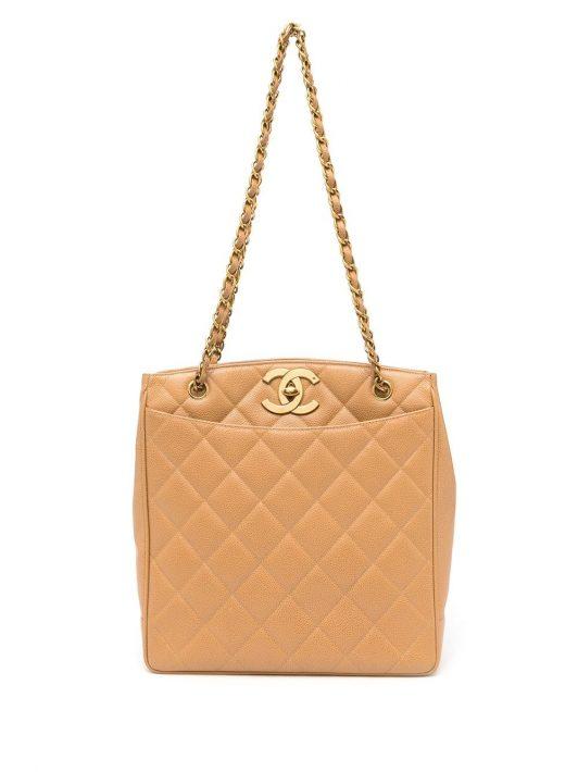 Chanel Pre-Owned 1995 Gesteppter Shopper - Braun