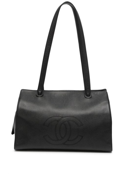 Chanel Pre-Owned 1997 Jumbo CC Schultertasche - Schwarz