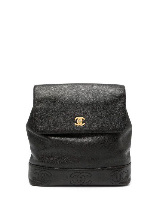 Chanel Pre-Owned 1997 Rucksack mit CCs - Schwarz