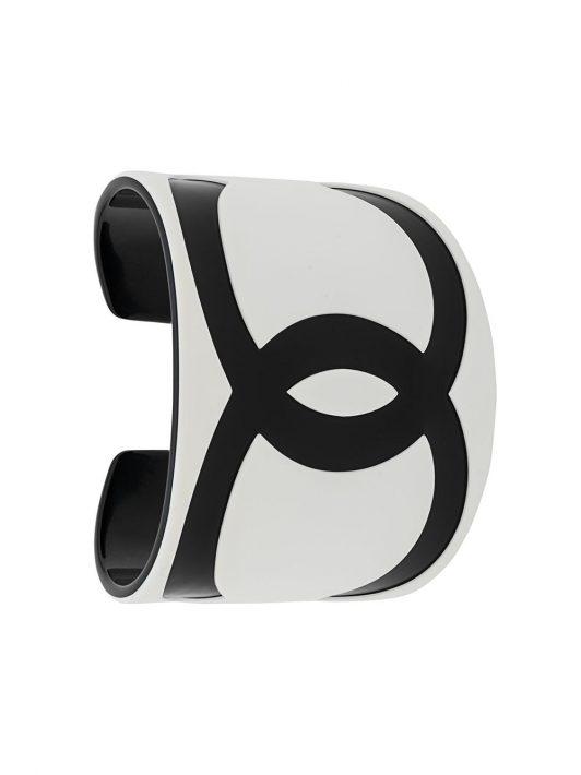 Chanel Pre-Owned 2000 Armspange mit CC-Logo - Weiß