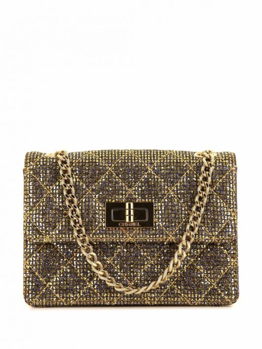Chanel Pre-Owned 2010s 2.55 Schultertasche im Metallic-Look - Gold