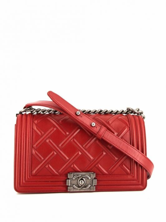 Chanel Pre-Owned 2012 Boy Schultertasche - Rot