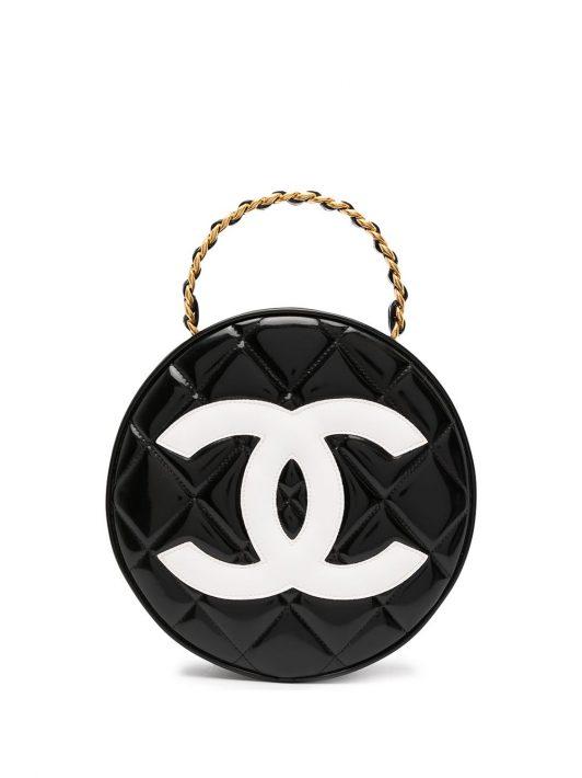 Chanel Pre-Owned Gesteppte 1995 Kosmetiktasche - Schwarz