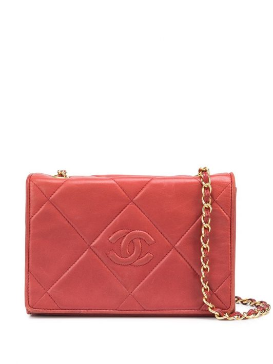 Chanel Pre-Owned Gesteppte Schultertasche - Rot