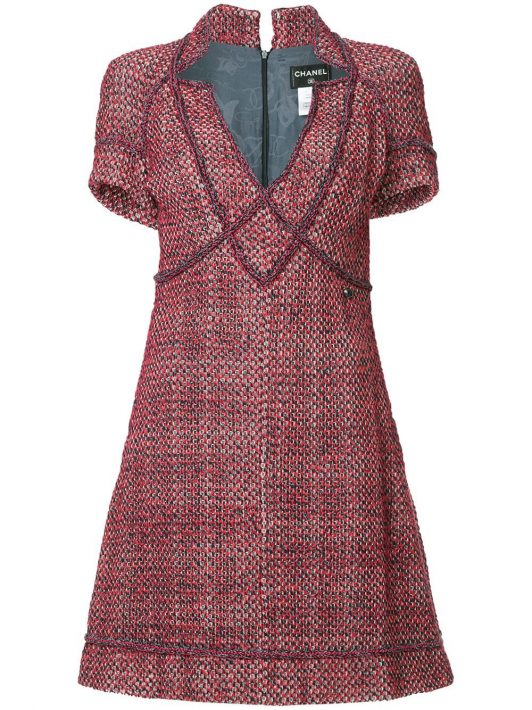 Chanel Pre-Owned Klassisches Kleid - Rot