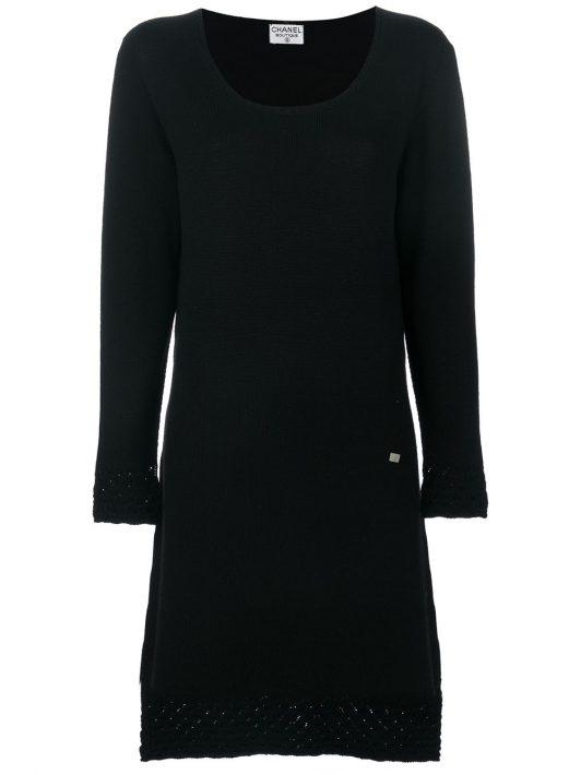 Chanel Pre-Owned Kleid mit U-Ausschnitt - Schwarz