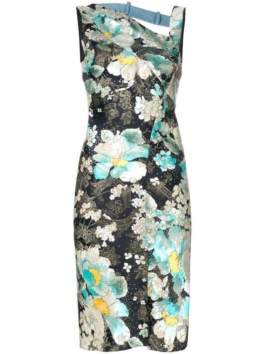 Christian Dior Pre-owned Kleid mit floralem Print - Mehrfarbig