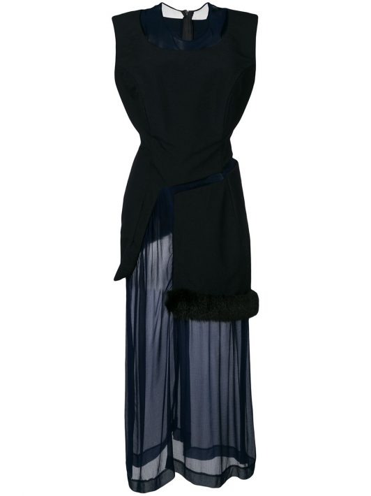 Comme Des Garçons Pre-Owned Kleid im Lagen-Look - Blau