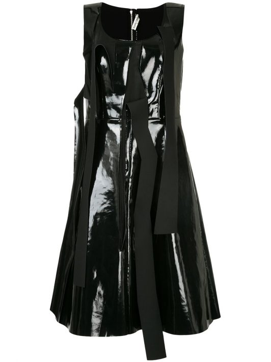 Comme Des Garçons Pre-Owned Kleid in Lack-Optik - Schwarz