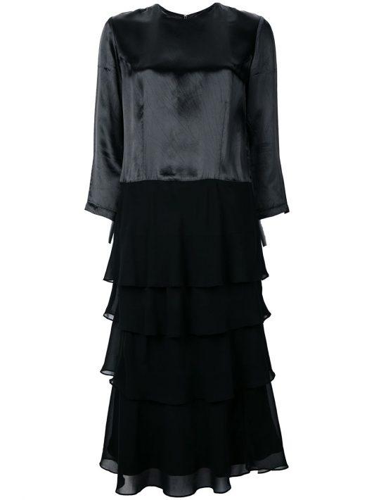 Comme Des Garçons Pre-Owned Kleid mit Dreiviertelärmeln - Schwarz