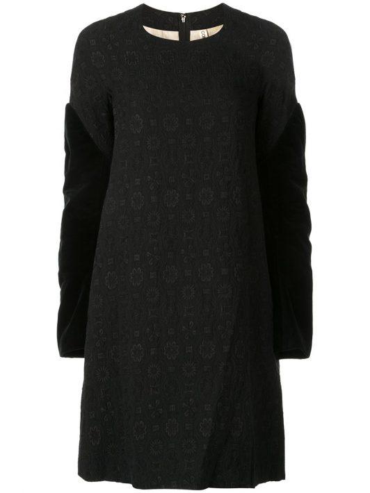 Comme Des Garçons Pre-Owned Kleid mit Jacquardmuster - Schwarz