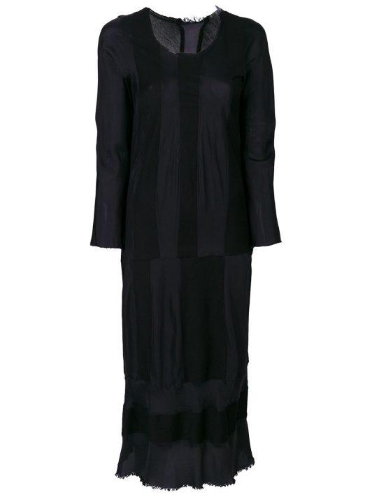 Comme Des Garçons Pre-Owned Kleid mit Streifen - Blau