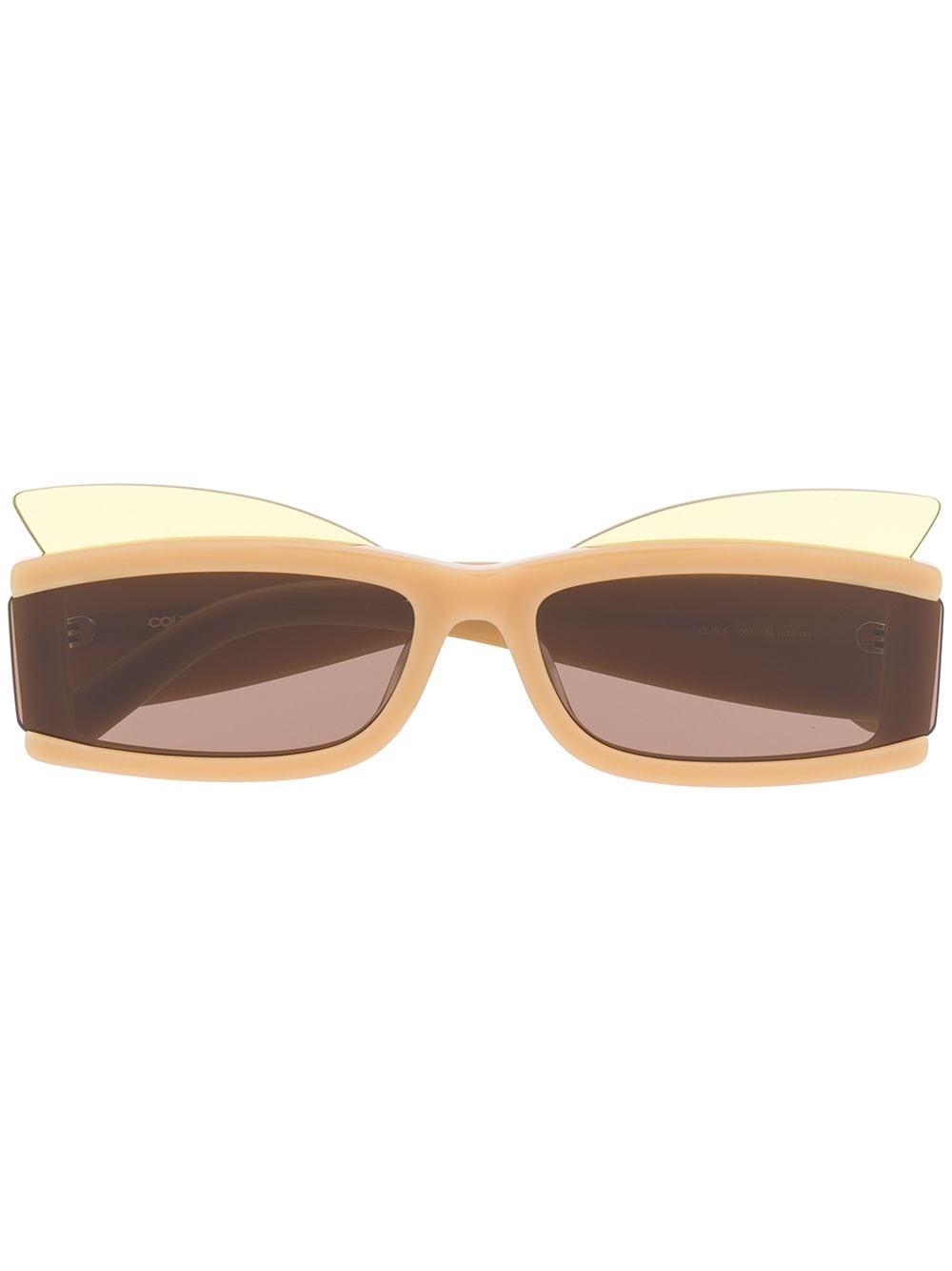 Courrèges Eyewear Eckige Sonnenbrille - Braun