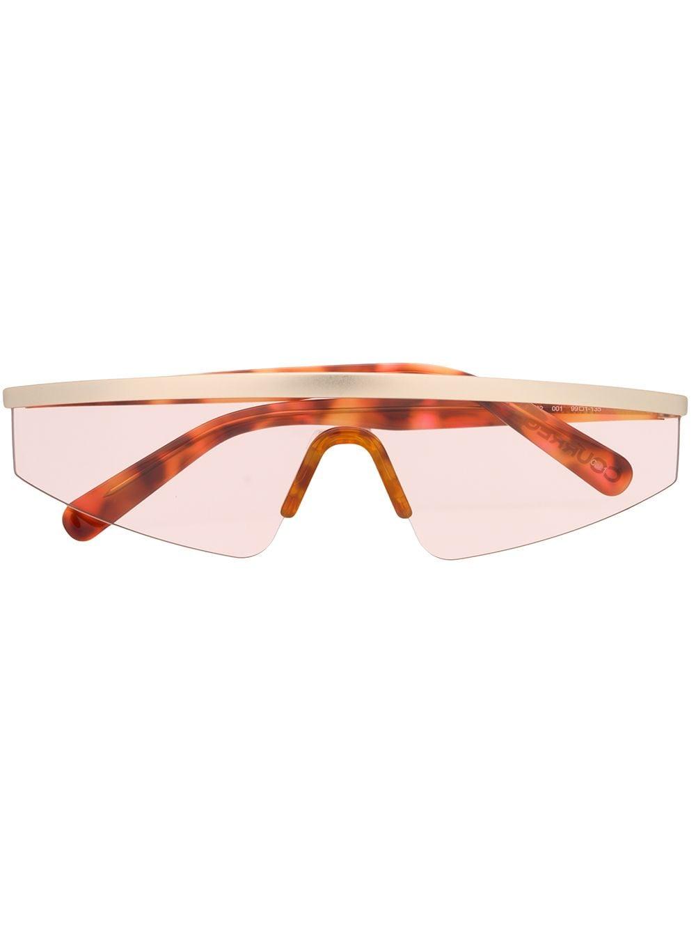 Courrèges Eyewear Sonnenbrille im Visier-Design - Braun