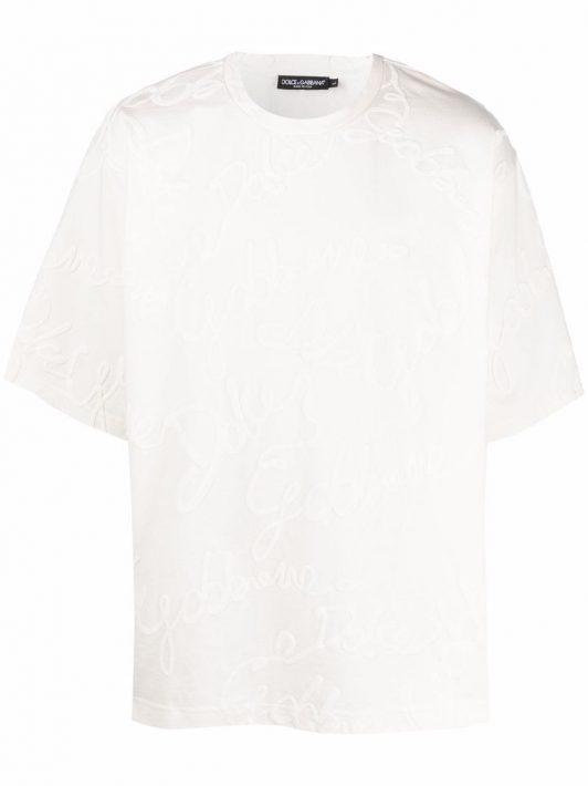 Dolce & Gabbana 3D-logo T-shirt - Nude